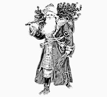 Victorian Santa Brings Christmas Presents and Christmas Trees in Christmas Long Ago. T-Shirt