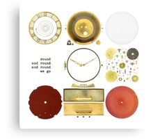 Metawa Holland Clock Metal Print