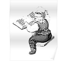 Santa is Making A List And Checking It Twice. Vintage Santa Claus For Old Fashioned Christmas. Poster