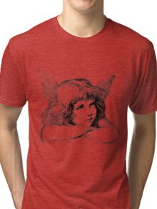 Christmas Angel. Angels We Have Heard On High Singing The First Noel. Tri-blend T-Shirt
