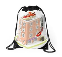 NYC Map Building Isometric Drawstring Bag
