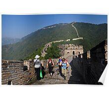 The Mutianyu Great Wall. Huairou District, Beijing, China. Poster