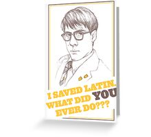 RUSHMORE - Max Fischer Greeting Card