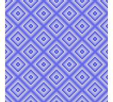 Pixel art in blue colors Photographic Print