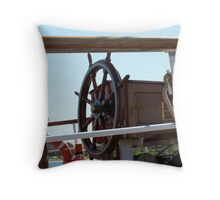 The 'Europa's Steering Wheel, Tall ships. Throw Pillow