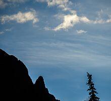 Silver Crescent Moon - Sangre de Cristo Wilderness, Colorado by Jason Heritage