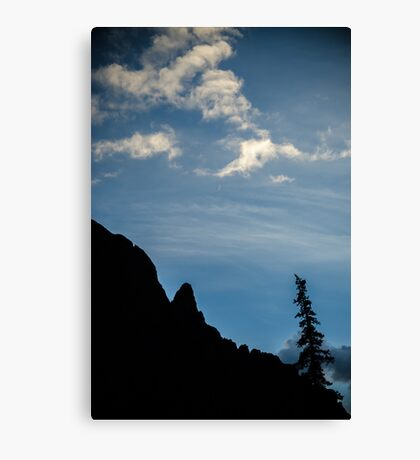 Silver Crescent Moon - Sangre de Cristo Wilderness, Colorado Canvas Print