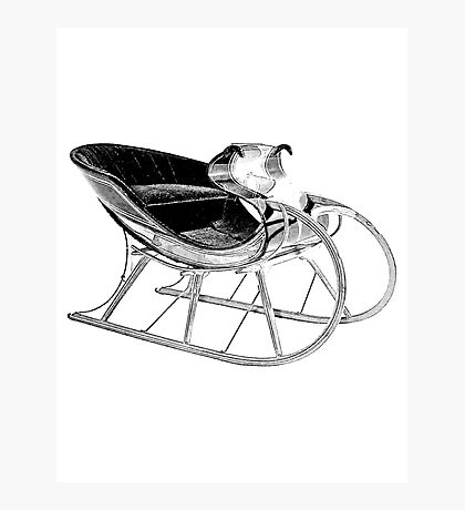 Sleigh Ride! Giddy up, giddy up, giddy up, Let's Go! Photographic Print