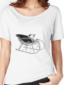 Sleigh Ride! Giddy up, giddy up, giddy up, Let's Go! Women's Relaxed Fit T-Shirt