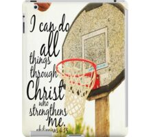 I can do all things Philippians 4 iPad Case/Skin