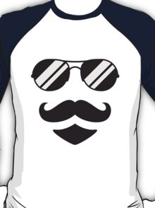Cool Mustache Man T-Shirt