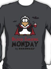 Blood Sucking Monday! - Vampire Penguin T-Shirt