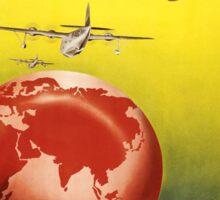 Vintage poster - Qantas Sticker