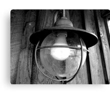 Black and White Lamp Canvas Print