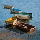 Six working boats by Freda Surgenor