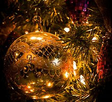 Gold Christmas Ornament by Joann Copeland-Paul