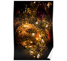 Gold Christmas Ornament Poster