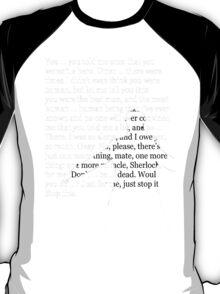 Reichenbach Fall (for dark base colours) T-Shirt