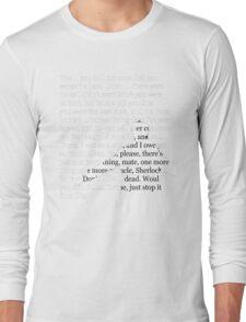 Reichenbach Fall (for dark base colours) Long Sleeve T-Shirt