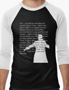 Reichenbach Fall (for dark base colours) Men's Baseball ¾ T-Shirt