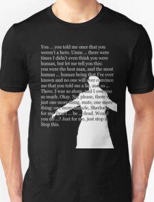 Reichenbach Fall (for dark base colours) Unisex T-Shirt