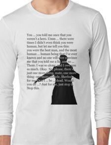 Reichenbach Fall (for light base colours) Long Sleeve T-Shirt