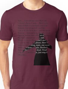 Reichenbach Fall (for light base colours) Unisex T-Shirt
