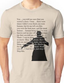 Reichenbach Fall (for light base colours) Unisex T-Shirt