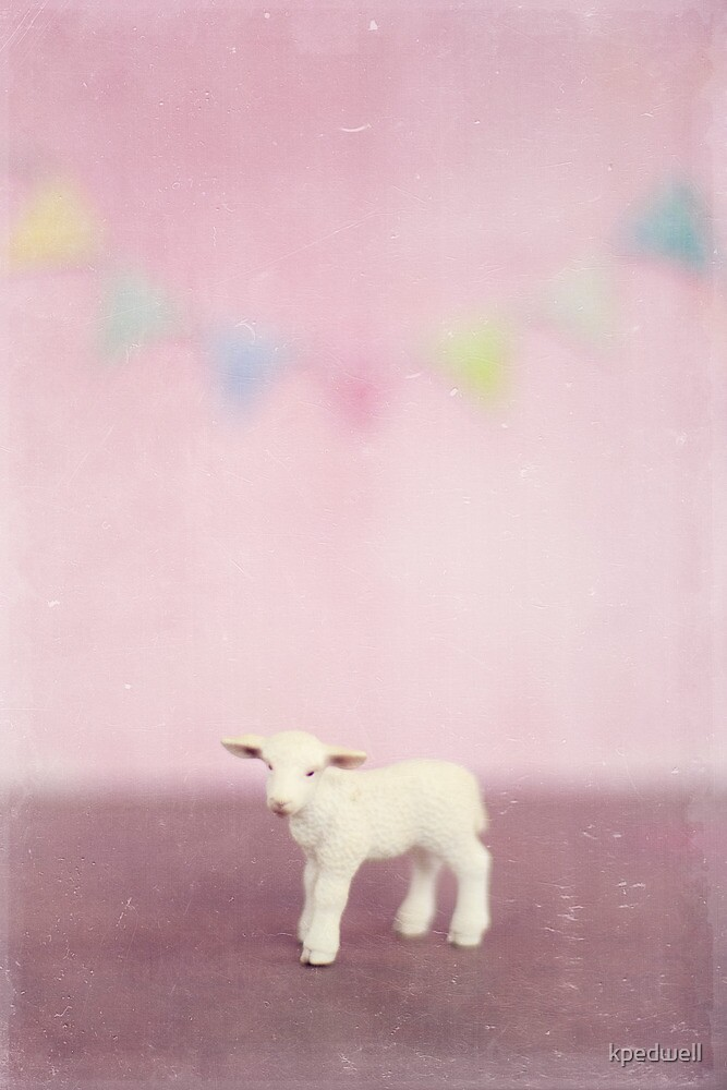 Pink Lamb and Bunting by kpedwell