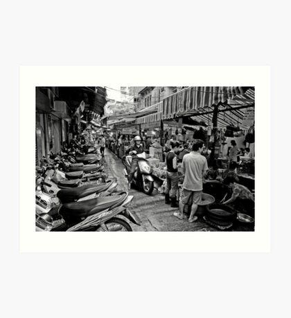 Hanoi wet market - Vietnam Art Print
