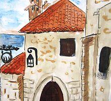 Eze Village Provence France by Glenda  Dunbier