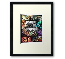 League of Legends GTA Poster Framed Print