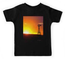 Windmill Sunset Kids Tee