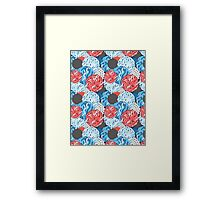 colorful abstract background Framed Print