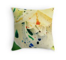 A Splash of Colour Throw Pillow