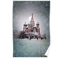 Red Square - Moscow (kodak film with some computer photo manipulation) Poster