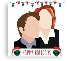 A Very X Files Christmas Canvas Print