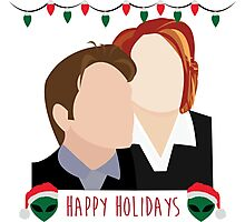 A Very X Files Christmas Photographic Print