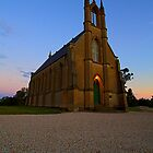 Taradale church sunset by collpics