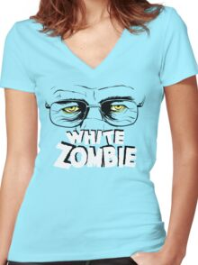 Walter White Zombie Women's Fitted V-Neck T-Shirt