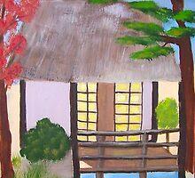 Japanese Tea House by janet caruana