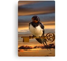 Swallow the key to Spring Canvas Print