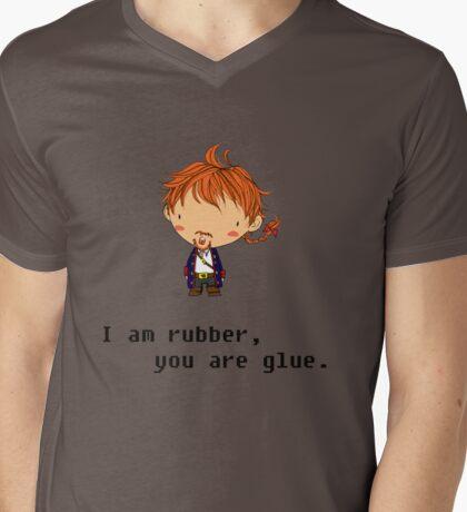 I am rubber Mens V-Neck T-Shirt