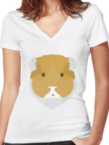 Brown Guinea Pigs Women's Fitted V-Neck T-Shirt