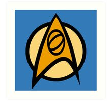 Star Trek TOS, Science Combadge Art Print