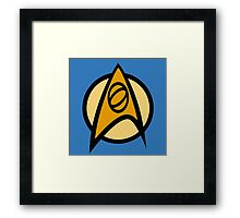 Star Trek TOS, Science Combadge Framed Print
