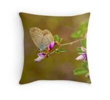Autumn's flower and little butterfly  Throw Pillow