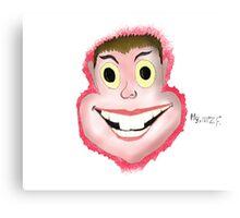 face, blood, art, LOL, crazy Canvas Print
