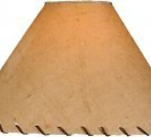 Parchment Lamp Shade with Leather Lace  by rusticeditions