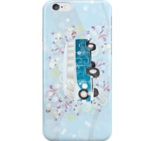 Retro van with colorful swirls iPhone Case/Skin